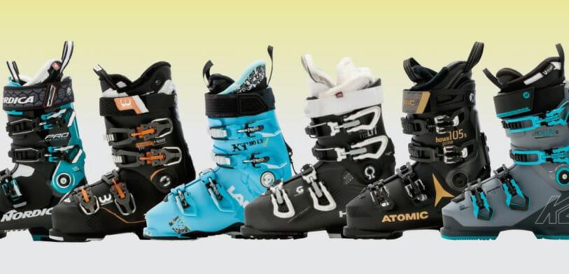 6 boots on a shelf